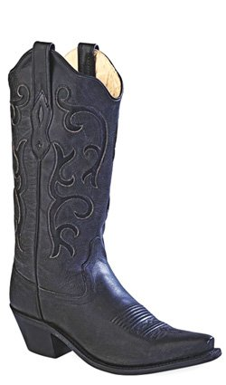 Old West Boots Women's LF1579 Black 8.5 B US