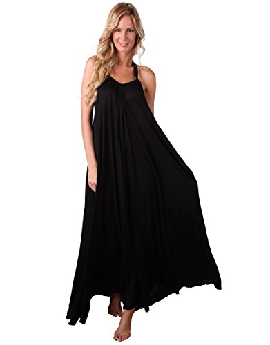Cover Fabricado Maxi Largo Negro Ingear Vestido De En Estados 1FxUwq4an