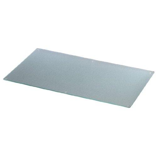 Xavax Herdabdeckplatte / Schneidebrett Glas, gehärtetes Sicherheitsglas, spülmaschinengeeignet, transparent, 52 x 30 cm