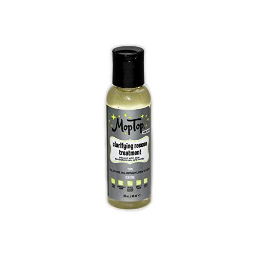 (2oz, MopTop Clarifying Rescue Treatment for Fine, Thick, Wavy, Curly & Kinky-Coily Natural hair, made with Coconut)