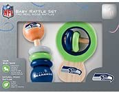 NFL Seattle Seahawks Baby Rattle Set - 2 Pack