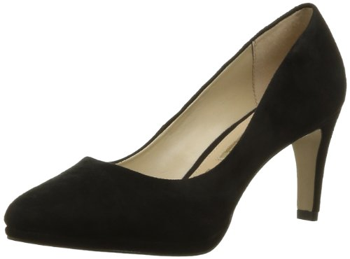 Buffalo Buffalo London, Damen Knöchelriemchen Pumps Schwarz