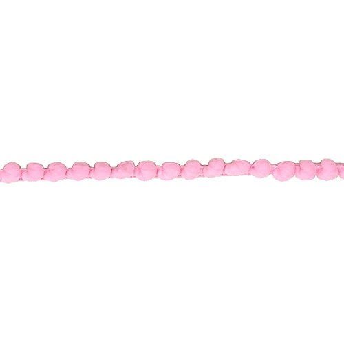 Yalulu 10 Yards Mini Pom Pom Trim Ball Fringe Ribbon Tassel DIY Sewing Accessory Lace For Home Party Decoration,1cm Width (Pink) Braid Ribbon Trim