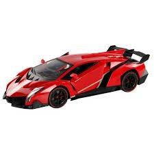 Red Lamborghini Veneno Battery Operated Remote Control Car   Kids Favorite Toy  1 14 Scale
