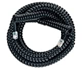 Rca 25feet Handset Coiled Phone Cord-Black Connects Telephone-Handset/-Phone-Base Tp282bl, Office Central