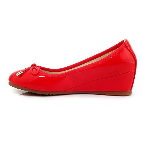 AdeeSu Compensées Femme Sandales Red SDC05971 qrwWq6Rya