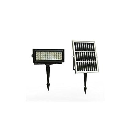 PuntoEnergia Italia - Faro Solar 300 lumen LED RGB 7 colores panel fotovoltaico Jardín - SLL