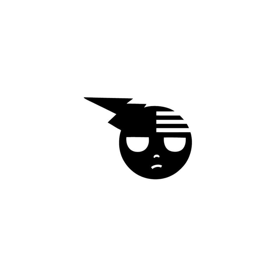 DEATH THE KID LOGO   5 WHITE   Vinyl Decal Sticker