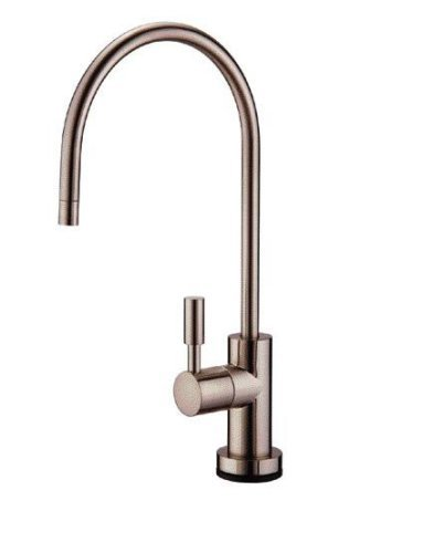 Kohler Beverage Faucet - iSpring GA1-BN Heavy Duty Non-Air Gap Drinking Faucet for Water Filtration, Reverse Osmosis Systems-Brushed Nickel-Contemporary Style High-Spout