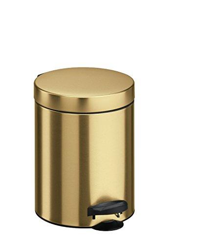 meliconi 14004703900Metal Sheet Bucket, Bin, Gold, 18.6x 18.6x 24.1cm