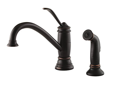 Pfister LF-034-4ALY Brookwood 1-Handle Kitchen Faucet with Side Spray in Tuscan Bronze, - Kitchen Brookwood Brookwood Faucet