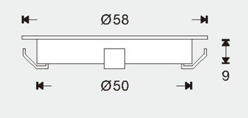 InfraRouge Kit Spots LED RGB Multicolore Encastrables Ronds Extra Plats SP-R07-16 spots LED