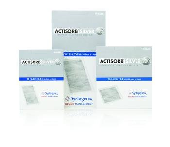 ACTISORB Silver 220 Antimicrobial Binding Dressing 4.2'' x 7.6'' Box: 10 by Johnson & Johnson