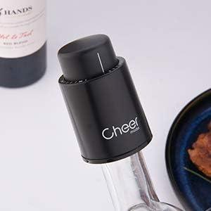 Cheer moda Set de regalo abrebotellas de vino eléctrico de acero inoxidable, aireador de vino, conservador al vacío y cortador de láminas, accesorios de vino 4 en 1