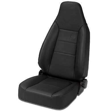 lMax II Sport Black Crush Front High Back All-Vinyl Single Jeep Seat for 1976-2006 Jeep CJ and Wrangler (Bestop Jeep Seats)