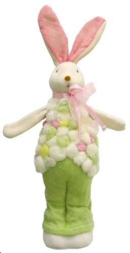 13-Inch Renaissance 2000 Decorative Standing Bunny with Ribbon Figurine