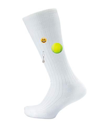 (Thorlos Junior's Express Yourself Tennis Over The Calf Socks, white, Medium)
