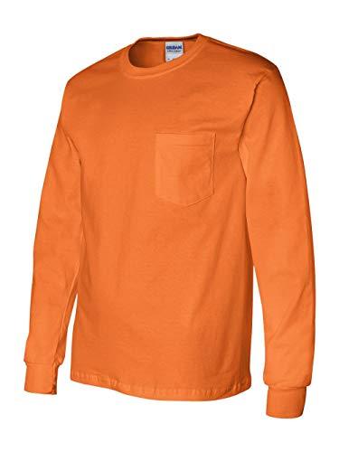 (Gildan 2410 - Ultra Cotton Long Sleeve T-Shirt with a Pocket)