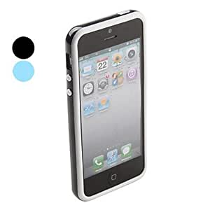 LZXTwo-tone Color Bumper Case for iPhone 5/5S (Assorted Colors) , Black