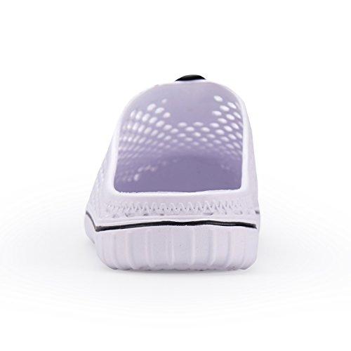 for Women Dry Sandals Walk Lightweight White Quick Men Unisex Garden Slippers welltree Clogs Shoes wUFqaax