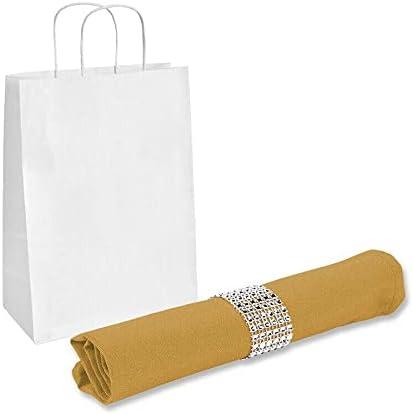 "10 pcs 17""x17"" inch Polyester Napkin - Gold - w/ Rings Wedding Linen Lunch napkins Farmhouse cloth napkins Napkins cloth washable Party napkins Cloth napkins set Cloth napkins Dinner napkins Napkins"