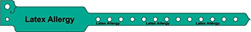 "MedValue Adult Patient Identification Plastic Alert Band, 10"" x 1-1/8"", Green - 500 Bands Per Box -  ULWB0108LA-22"