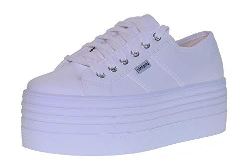 Donna Blanco White Bianche Sneakers Plataforma Per Victoria 785XwY