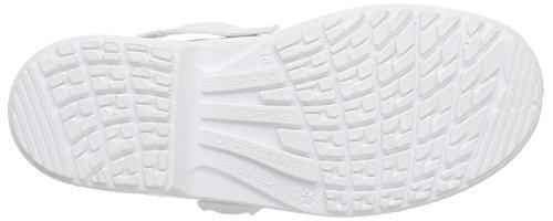 MTS Sicherheitsschuhe  BASE Mediform-Si-Pantolette 7500 - Zapatos De Seguridad de piel Unisex adulto blanco - blanco