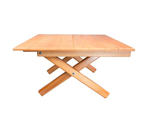 Simple Setup Short Table All-Purpose Use and Portability – Beach, Picnic, Camp, Or As A Gift – All Wood Strong Table (Height 10″) (Renewed)