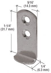 CRL 1-1/4'' Metal ''L'' Clip - Package by C.R. Laurence