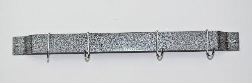 24 in. Bar Rack w 4 J Shape Hooks