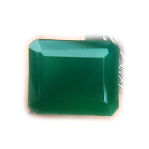 Lovemom 6.70ct Natural Octagon Unheated Green Chalcedony Africa #R by Lovemom