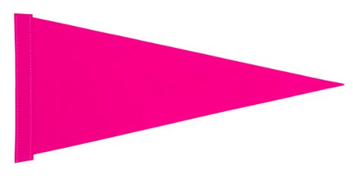 6 ft. Pink Pennant Bicycle Safety Flag with Rear Axle Mounting Bracket (Bike Flag)