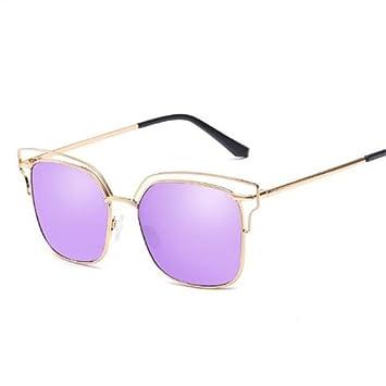 GGSSYY Gafas de Sol Mujer Hombres Clásicos Lentes de Cristal ...