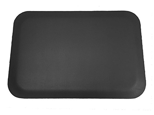 Elite Step 1/2'' Premium Faux-Leather Grained Anti-Fatigue Mat, 3' x 5', Solid Black by Portico Systems (Image #2)