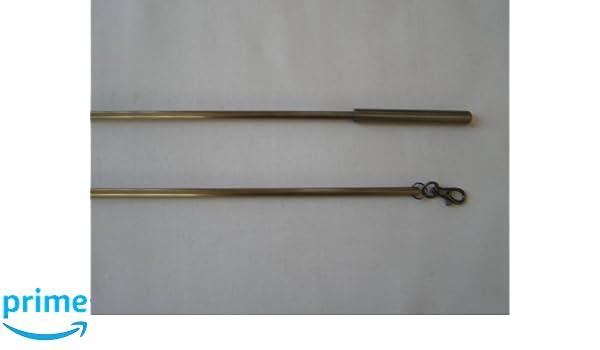 Latón envejecido bruñido lámina con clip para Cortina/Tiradores de 75 cm: Amazon.es: Hogar