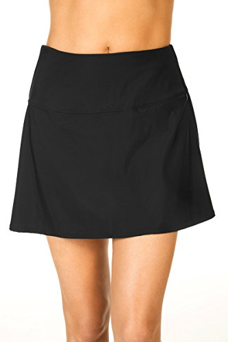 Miraclesuit Women's Separate Fit and Flair Skirt Bottom Black Swimsuit Bottoms by Miraclesuit