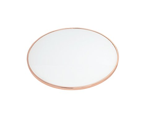 Acme Alivia End Table, Frosted Glass Rose Gold