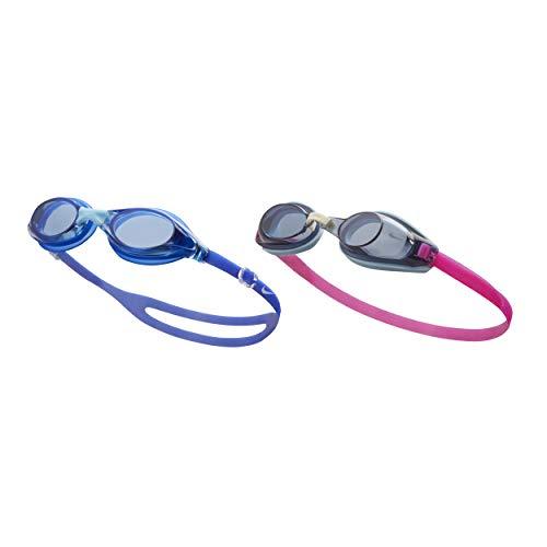 NIKE Men's Valiant/Hydra Fem 2-Pack Swim Goggles, Blue/Smoke, One ()
