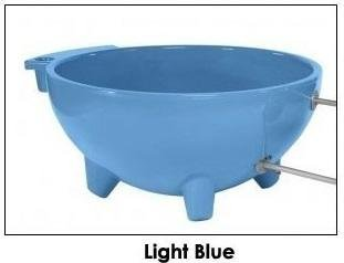 ALFI brand  FireHotTub-LB Round Fire Burning Portable Outdoor Fiberglass Soaking Hot Tub, Light Blue