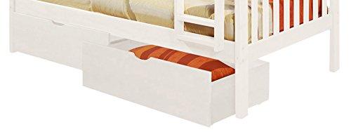 DONCO Kids 505-W Dual Under bed Storage Drawer, White