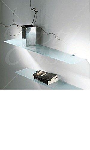 Mensole In Cristallo Su Misura.Mensole Vetro Ripiani In Cristallo Amazon It Casa E Cucina