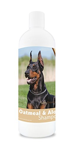 Healthy Breeds Dog Oatmeal Shampoo with Aloe for Doberman Pinscher - Over 75 Breeds - 16 oz - Mild and Gentle for Itchy, Scaling, Sensitive Skin - Hypoallergenic Formula and pH Balanced