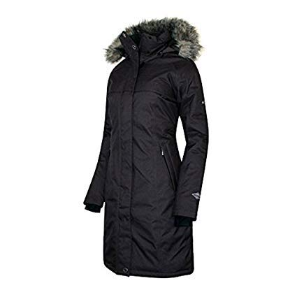 COLUMBIA Womens Flurry Run Down Long Omni Heat Jacket Coat Hooded Parka (S) ()