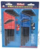 22 Piece - .050-3/8'' & 1.5-10mm Long Arm Style- Hex Key Set