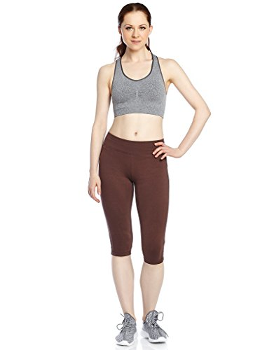 Women Capri Legging Brown X-Large