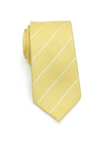 Bows-N-Ties Men's Necktie Summer Pastels Linen Skinny Matte Tie 2.75 Inches (Daffodil Yellow ()