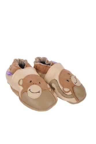 Pre Shoes Funky Monkey Zapatitos de bebé de cuero suave con diseño de mono Talla:0-6 meses