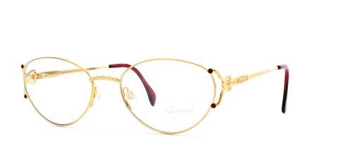 Chopard C019 6050 Gold Authentic Women Vintage Eyeglasses Frame ()