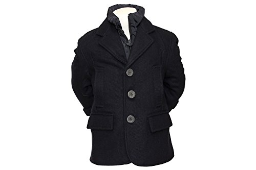 Appaman Big Boys' Wool District Coat in Blue 8